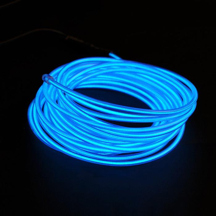 Комплект 10м гибкий неоновый шнур цвет бирюзовый + блок питания 20-50м