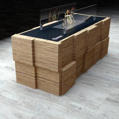 Биокамин Tetris Table от Artpole