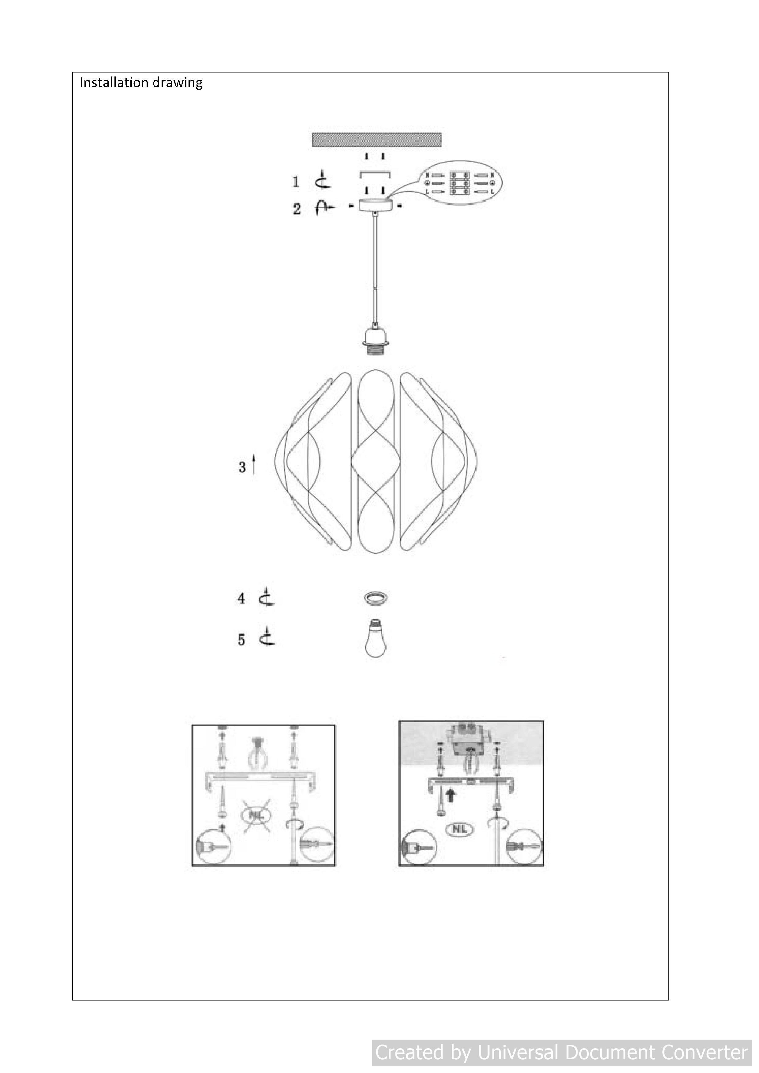 Подвесной светильник TANTI 34408/40/41 LUCIDE 34408/40/41
