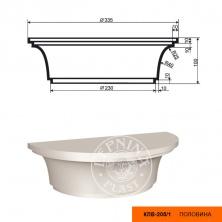 Колонна  КЛВ-205/1 капитель (100х335х335)